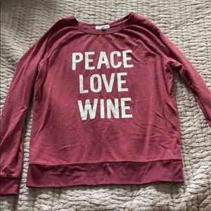 Wine graphic sweatshirt